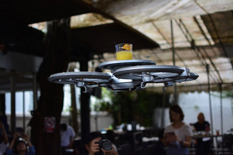 drones instead of -waiters